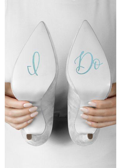 Blue (I Do Cursive Shoe Decals)