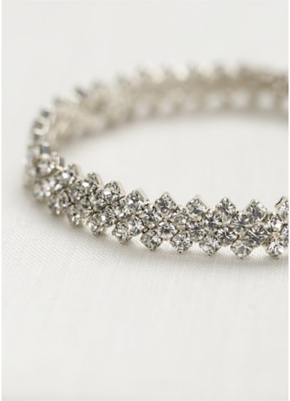Crystal Bracelet with Zig-Zag Edge - Wedding Accessories