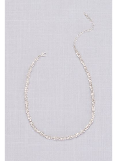 Twisted Pave Rhinestone Necklace - Wedding Accessories