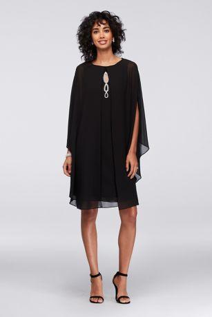 Short Sheath Long Sleeves Dress - SL Fashions