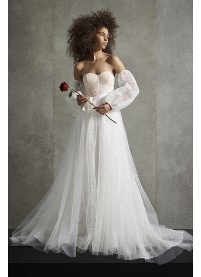 White By Vera Wang Dutch Lace Corset Wedding Dress David S Bridal