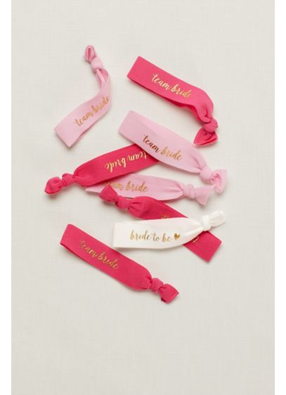 Bridal Party Hair Ties Set of 8 - Wedding Gifts & Decorations