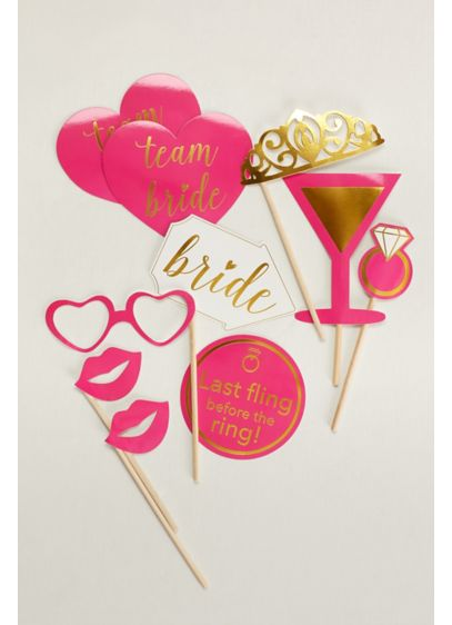 Bachelorette Photo Props Set of 10 - Wedding Gifts & Decorations