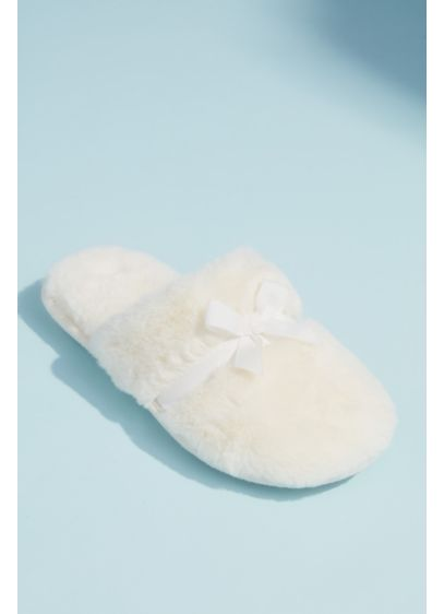 David's Bridal Ivory (Faux Fur Slipper)