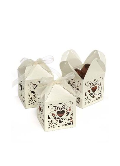 Ornate Diecut Favor Boxes Set of 25 - Perfect for weddings, showers or parties! Shimmer favor