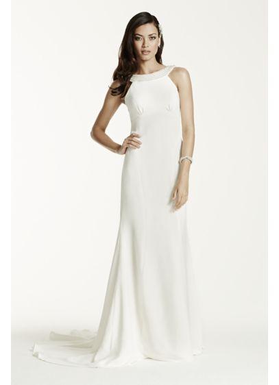 Long Sheath Modern Wedding Dress - Galina Signature