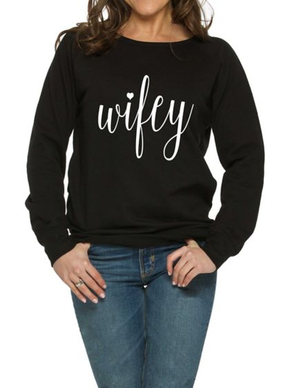 Wifey Sweatshirt - Wedding Gifts & Decorations