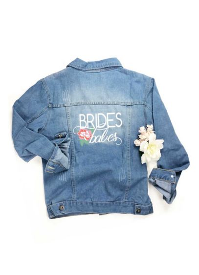 Embroidered Brides Babes Jean Jacket - Bride's Babes is embroidered across the back of