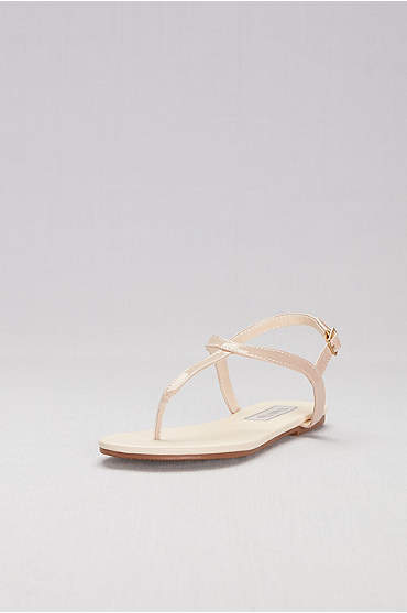 Simple Patent Thong Sandals