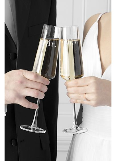 Couples Wedding 9.5 oz Champagne Estate Glasses - Wedding Gifts & Decorations