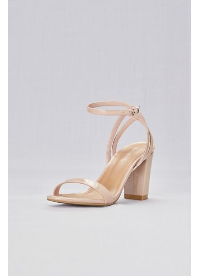 Bamboo Beige (Patent Sandals with Strappy Back)