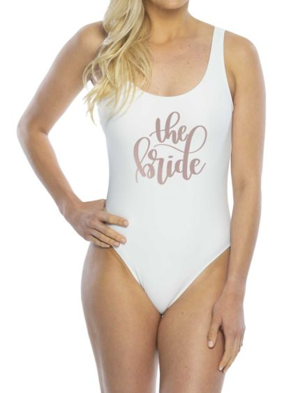 White (The Bride One-Piece Swimsuit)