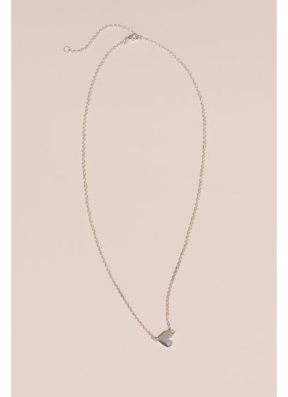 Bridesmaid Heart with Pave Crystal Necklace - A special something for the ladies who have