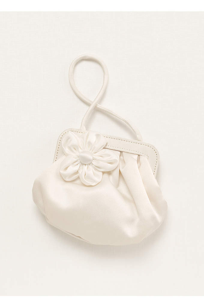 Flower Girl Handbag with 3D Floral Detail - Darling flower girl handbag, perfect for the little
