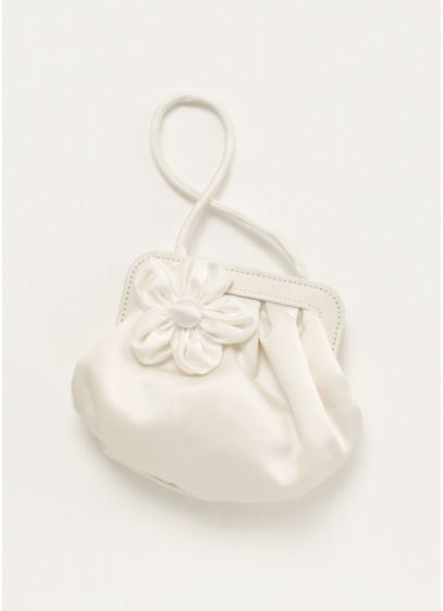 Flower Girl Handbag with 3D Floral Detail - Darling flower girl handbag, perfect for the little
