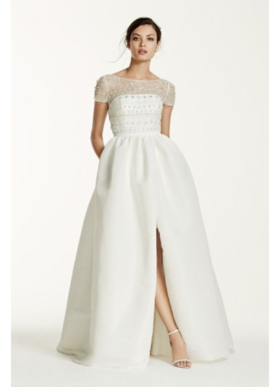 Long Ballgown Modern Wedding Dress - Galina Signature