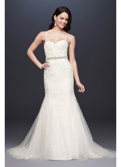 Long Mermaid  Trumpet Formal Wedding Dress - Galina Signature 773885ee4