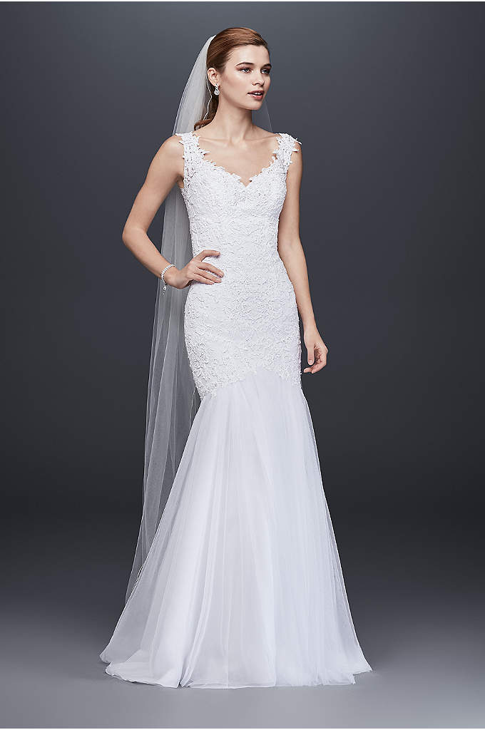 Beaded Venice Lace Trumpet Wedding Dress