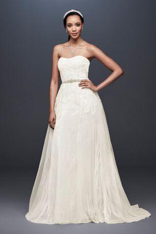 Detachable Wedding Dress.Sheath Wedding Dress With Detachable Overskirt David S Bridal