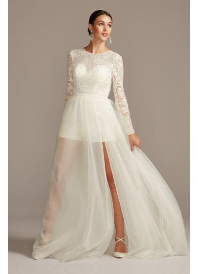 Long Jumpsuit Dress Alternatives Wedding Dress - Galina Signature