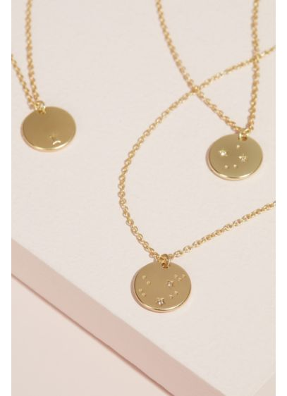 Zodiac Sign Pendant Necklace - Wedding Gifts & Decorations