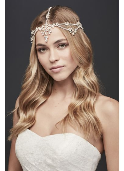 Crystal Flower Goddess-Style Headband - Wedding Accessories
