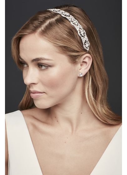 Interlocking Crystal Headband - Wedding Accessories