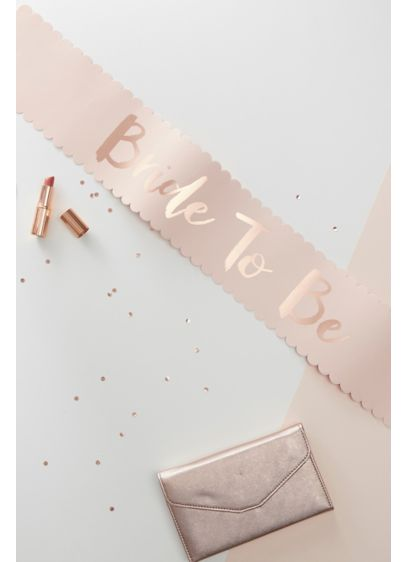 Rose Gold Bride to Be Sash - Wedding Gifts & Decorations