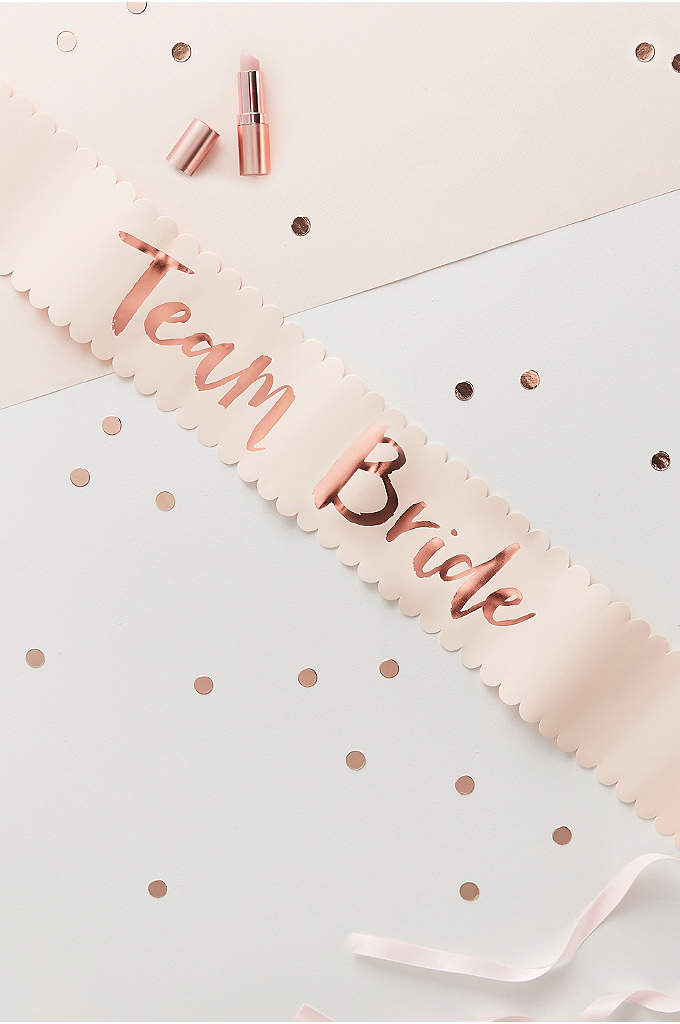 Rose Gold Team Bride Sash Set of 6 - Ensure your bridesmaid celebrate your bachelorette party in