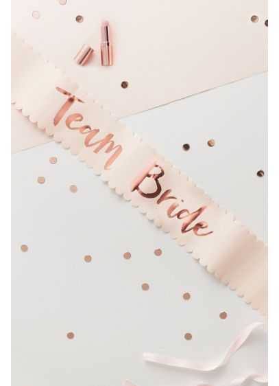 Rose Gold Team Bride Sash Set of 6 - Wedding Gifts & Decorations