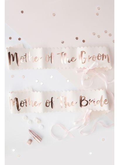 Mother Of The Bride and Groom Sash Set - These chic sashes feature a stylish rose gold