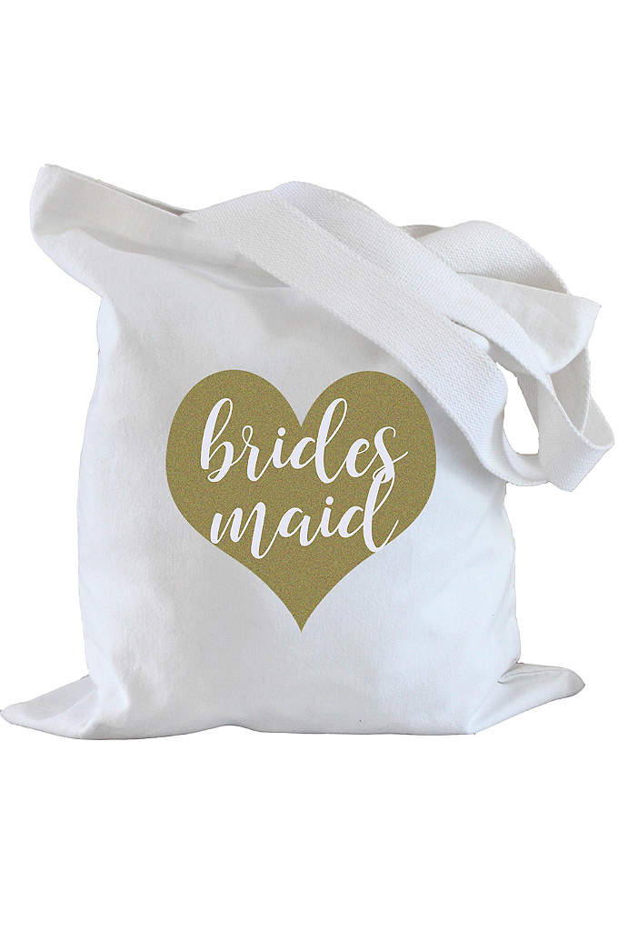 Bridesmaid Heart Tote Bag - Tote wedding day essentials in this cute Bridesmaid