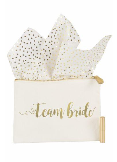 Gold Foil Team Bride Canvas Clutch - Wedding Gifts & Decorations
