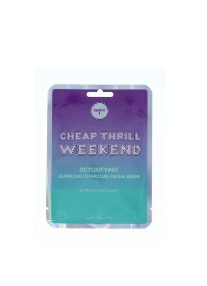 Cheap Thrill Weekend Detoxifying Facial Sheet Mask - Made with bubbling charcoal for a skin detoxifying