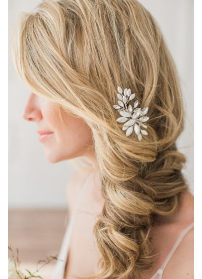 Brides and Hairpins Pink (Crystal Leaves Hand-Wired Comb)