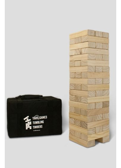 Giant Tumbling Timbers Yard Game - Pick your timbers wisely to build a giant