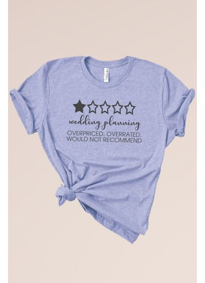 Overrated Wedding Planning Short Sleeve T-Shirt - Laidback brides will love this soft T-shirt that