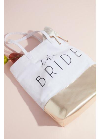 White (The Bride Metallic Color Block Tote Bag)