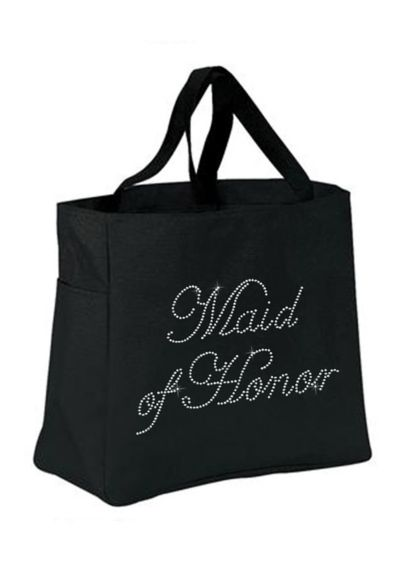 Rhinestone Maid of Honor Tote Bag - Wedding Gifts & Decorations