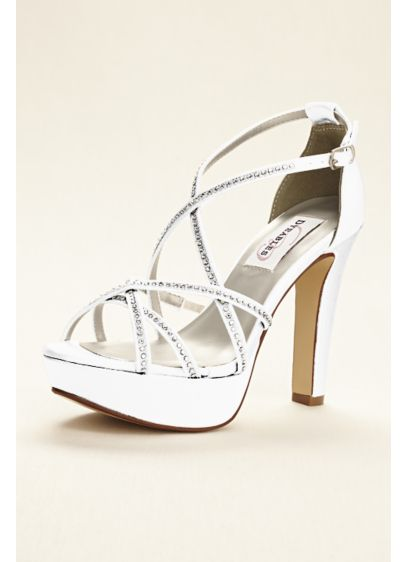 a95f4092ce2 Dyeable Strappy Platform Sandal with Crystals