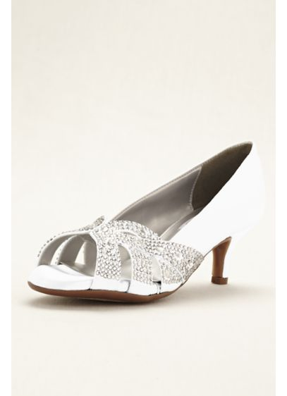 Dyeables White (Tracy Dyeable Crystal Peep Toe Pump)