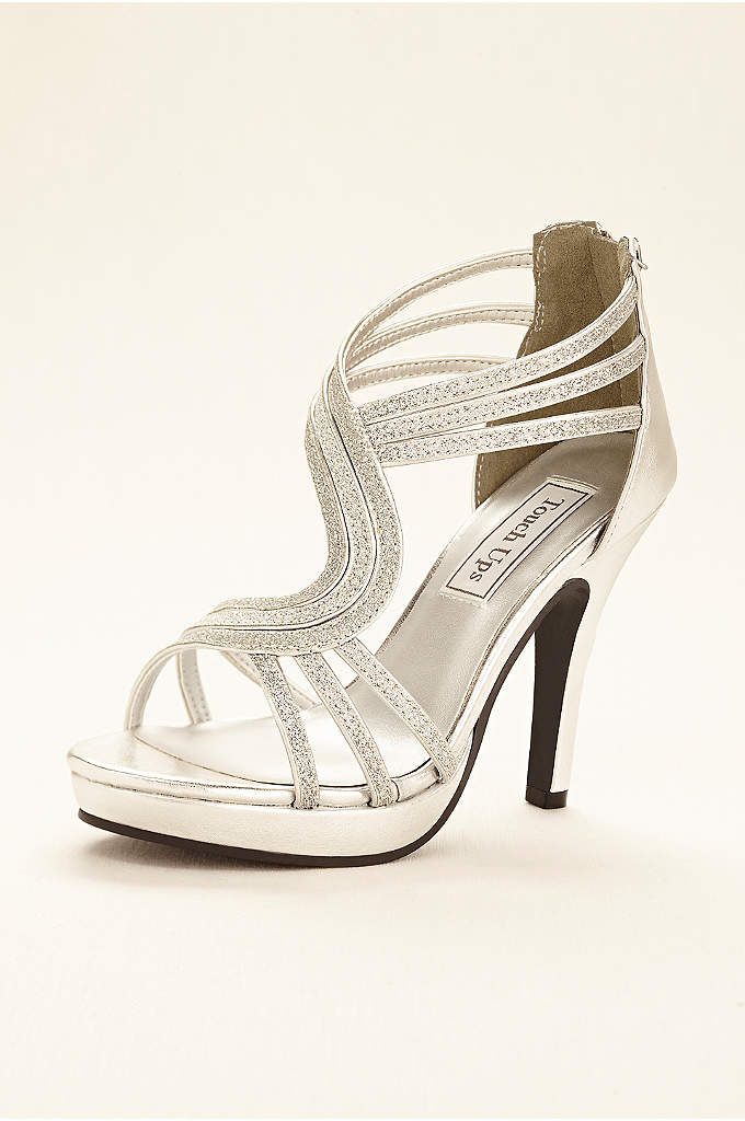 Glitter Platform Sandal by Touch Ups - Take your evening look to the next level