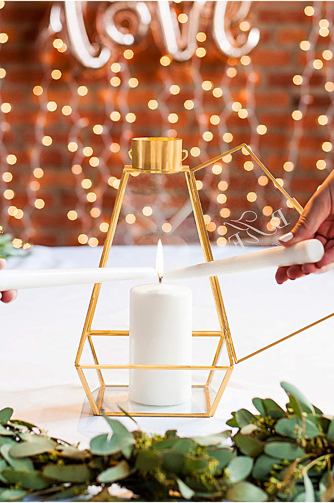 Personalized Gold Unity Lantern - Unite with your love using this Personalized Gold