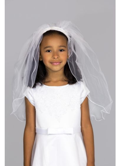 US Angels White (Crystal Communion Headband with Veil)