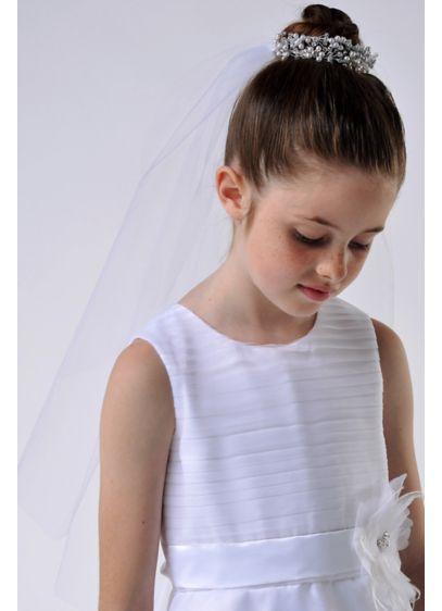 US Angels White (Beaded Bun Wrap with Communion Veil)