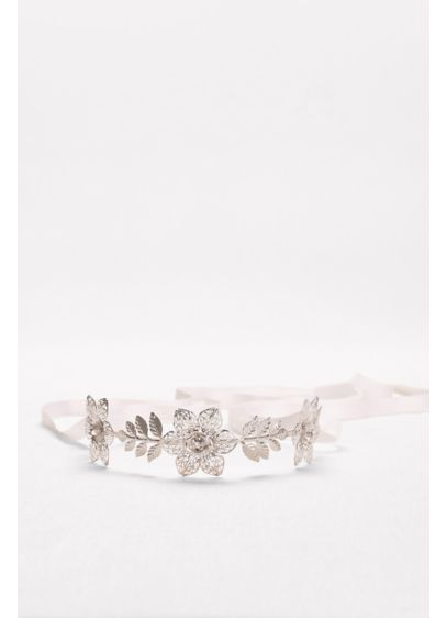 Filigree Flower Headband with Tieback - Wedding Accessories
