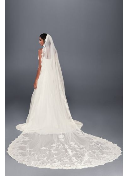 Statement Lace Cathedral Veil - Wedding Accessories
