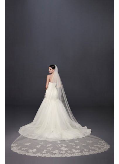 Metallic Embroidered Cathedral Veil - This metallic-embroidered veil offers the perfect hint of