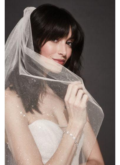 David's Bridal Ivory (Glitter Tulle Fingertip Veil)