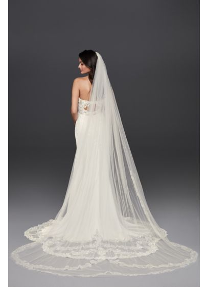 Double Tier Lace Cathedral Veil - Wedding Accessories